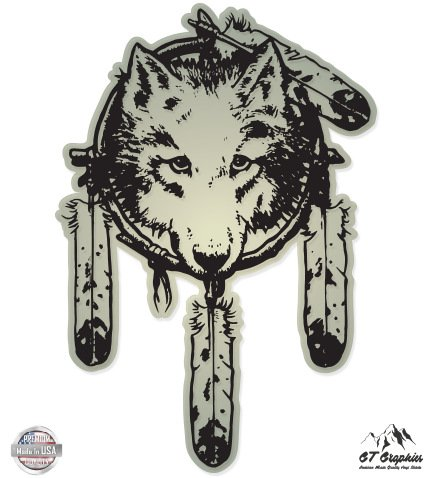 Wolf Native American Dream Catcher - 3