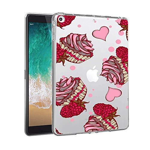 (Feloowse iPad Mini 2 Case, Personalized Design Raspberry Cupcake Pattern, UV Printed Flexible Protective Cover for iPad Mini 2-Clear)