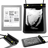DURAGADGET Sealed Waterproof & Dustproof Case / Bag in Black With Neck Strap For NEW Kobo Touch 2.0 eReader