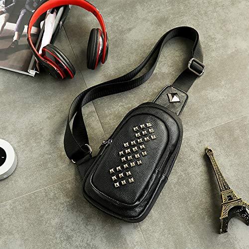 Messenger spalla pelle nero borsa Bag a multifunzione Outdoor tracolla Borsa Home tracolla a Fashion PU a con in Borsa 4n4z6TUW