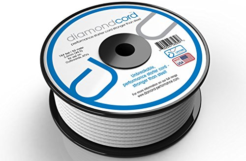 diamondcord 164 Feet by 3.6 mm Unbreakable Gas Engine Pull Starter Recoil Replacement Cord Rope Bulk Spool for Generators, Water Pumps, Pressure Washers, Tillers, Snow Blowers, and Air Compressors ()