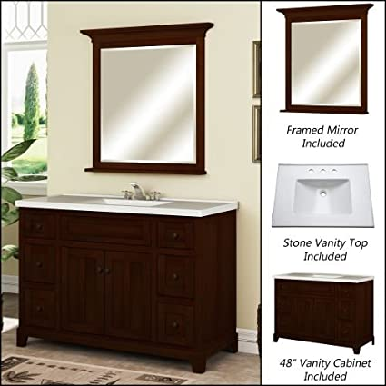 Excellent 48 Bathroom Vanity With Top Style
