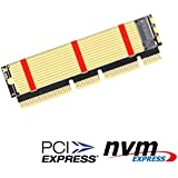 M.2 NGFF NVMe SSD to PCIE 3.0 X16/X8/X4 Adapter with heatsink for 1U/2U Server and Low Profile PC