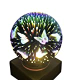 3D Magical Butterfly Light,Amamary88 Colorful USB Charging LED Light House Party Decor