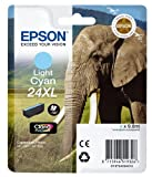 Epson C13T24354012 24 X-Large Series Elephant Ink Cartridge, Light Cyan, Genuine