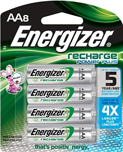 Energizer Recharge Power Plus AA 2300 mAh Rechargeable Batteries, Pre-Charged,  8 count