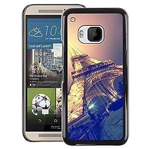 Red-Dwarf Colour Printing Eifel Tower Sky Night Paris France - cáscara Funda Case Caso de plástico para HTC One M9