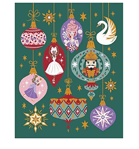 Nutcracker Blanket - Shop Disney The Nutcracker and The Four Realms Blanket Throw- Clara, Ballerina, Sugar Plum Fairy & Nutcracker (Green)