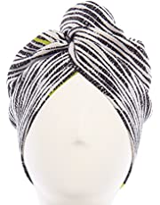 Aquis Lisse Crepe Microfiber Hair Turban, Black