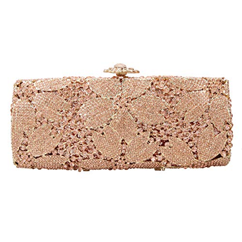 Fawziya Sakura Flower Hard Case Purse Luxury Crystal Evening Clutch - Touch Leather Diamond Htc