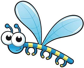 Fahnenmax Aufkleber Sticker Libelle Autoaufkleber Auto