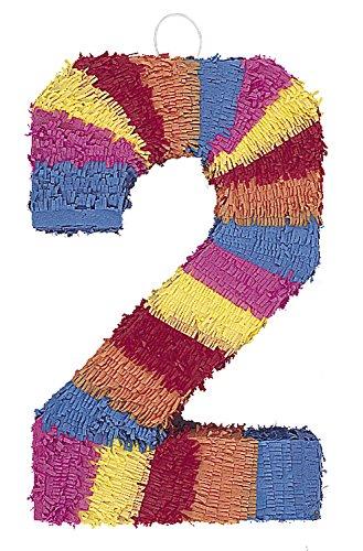 Multicolor Number 2 Pinata -