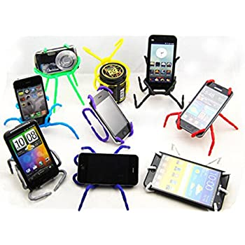 Misskt® 10pcs Spiderpodium Tablet Stand, Portable Spider Flexible Cell Mobile Phone Holder Hanging Mount and Stand for Ipod Iphone 4/4s/5/5s/6 Samsung Galaxy Andriod Mp4