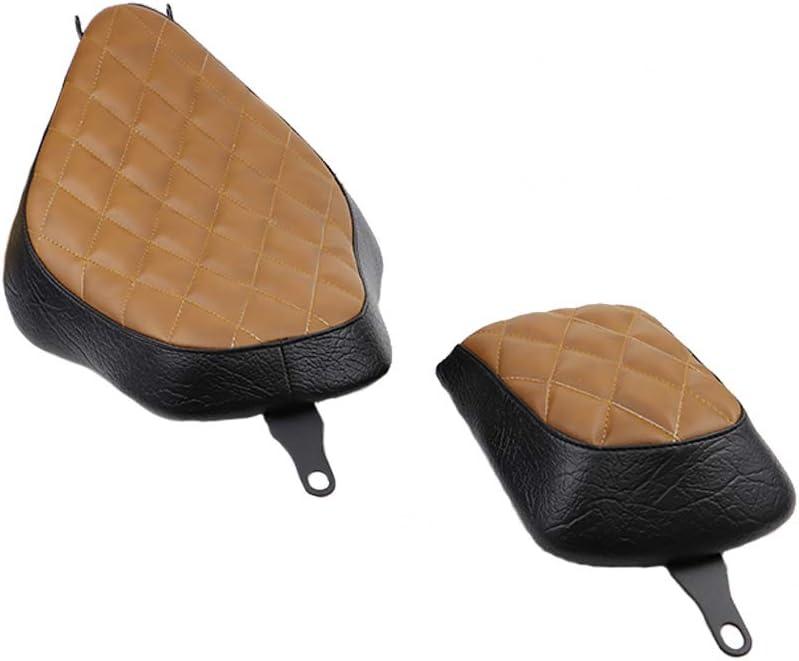 GUAIMI Motorcycle Cushion Seat Driver Seat Rear Passenger Pillion Pad Seat For Harley Davidson Sportster XL883 XL1200 48 72 Iron 883 Checker