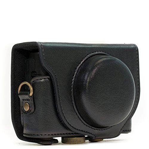 MegaGear Ever Ready Protective Leather Camera Case, Bag for Sony Cyber-Shot DSC-RX100 IV Digital Camera (Black)