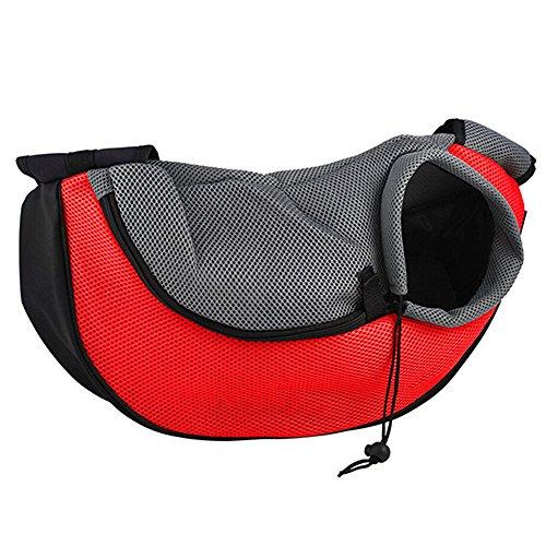 Pet Dog Cat Puppy Zip Travel Tote Shoulder Bag Sling Backpack Carrier  S Size Red