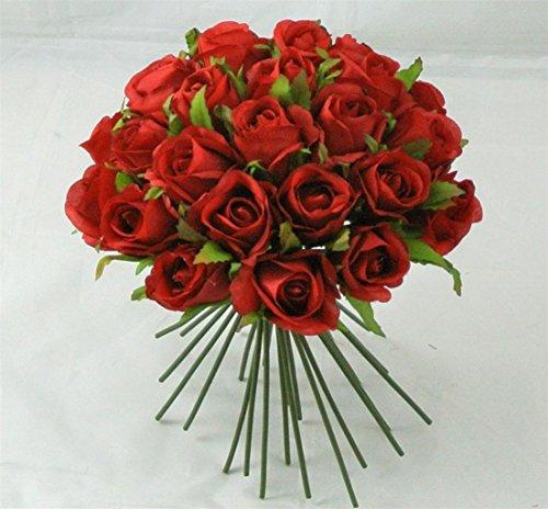 26 Pcs Artificial Flowers Red Rose Buds  - Gerbera Wedding Cake Shopping Results