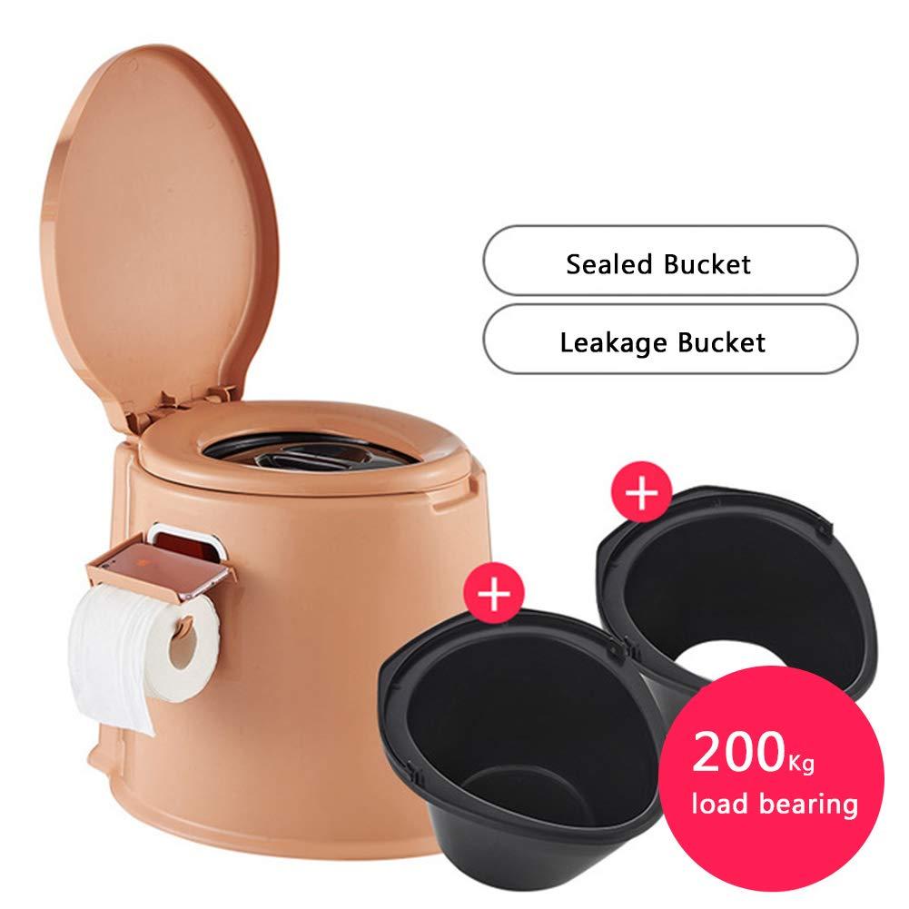 gold Mobile Toilet Anti-Slip Elderly Plastic Toilet Pregnant Women Mobile Toilet Adult Toilet Outdoor Portable Toilet
