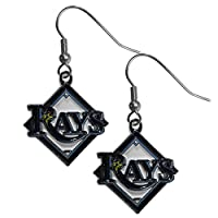 MLB Tampa Bay Rays Chrome Dangle Earrings