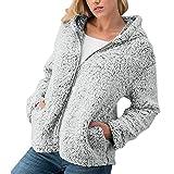 SMALLE ◕‿◕ Clearance,Outercoat for Women, Winter Casual Warm Zipper Jacket Solid Outwear Coat Overcoat Outercoat