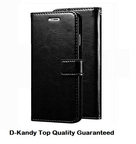 D Kandy Vintage Leather Flip Wallet Case Stand with Card Holder Magnetic Cover for Sony Xperia Z5 Premium   Black