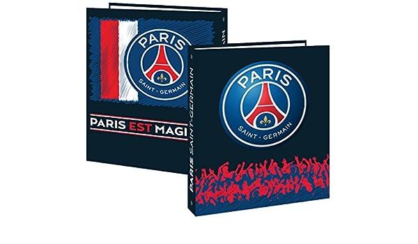 Paris Saint Germain - Archivador (tamaño A4, 4 anillas, 4 cm de grosor), diseño del equipo de fútbol Paris Saint Germain: Amazon.es: Oficina y papelería