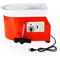 25CM Pottery Wheel Pottery Forming Machine 350W Electric Pottery Wheel DIY Clay Tool Ceramic Machine Work Clay Art Craft DIY (Orange)