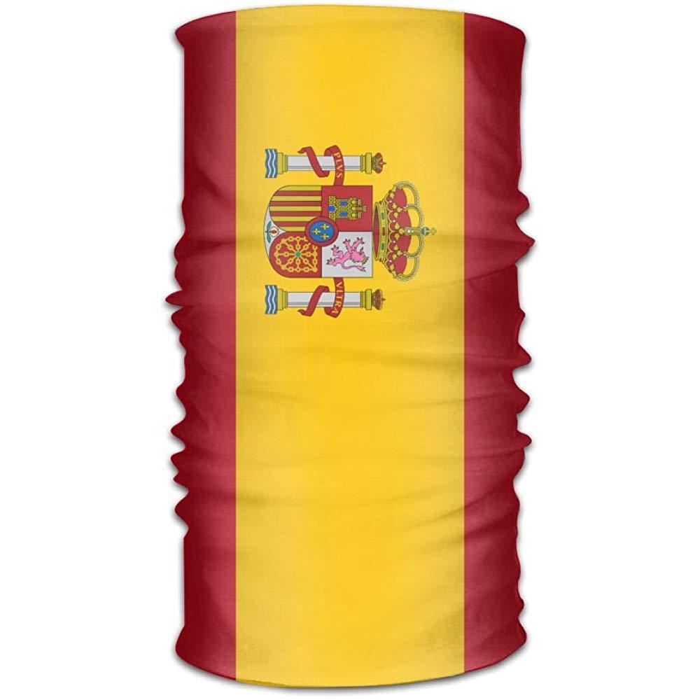 Zome Lag Diademas,Tubo De Bandanas Sin Costuras,Pa/ño De Manguera,Pa/ñuelo Deportivo,Bandera De Espa/ña Pa/ñuelo Sin Costuras,Hombres Mujeres Diadema 50X25Cm Pasamonta/ñas De Bandana