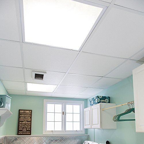 Genesis Easy Installation Stucco Pro Lay-In White Ceiling Tile/Ceiling Panel, Carton of 12 (2' x 2' Tile) by Genesis (Image #3)