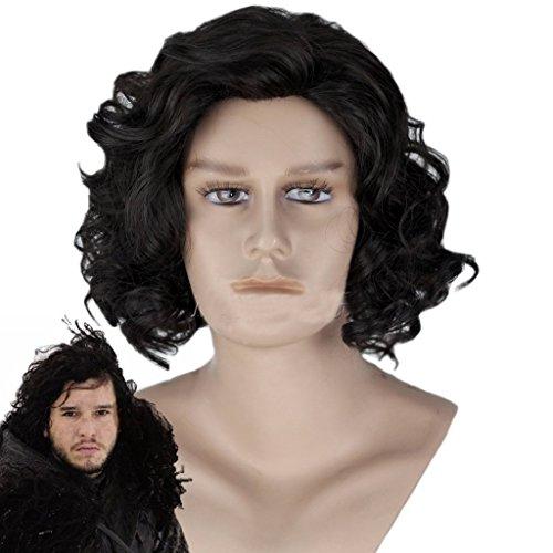 Game of Thrones Jon Snow Wig Cosplay Wig Black Hair