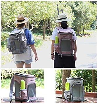 conejos gatos animales de viaje a pie pueden doblarse actividades al aire libre.Amarillo Las mochilas de viaje de mascotas llevan cremalleras adaptarse a perros ratones campamentos etc.