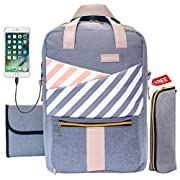 Baby Diaper Bag Backpack Slonser Large Designer Multifunction Maternity Nappy Tote Bag Organizer Waterproof Travel Nursing Purse For Women Mom Dad Girl Unisex With Changing Pad Insulated Pocket Peachy