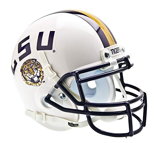 NCAA LSU Tigers Collectible Alt 2 Mini Helmet, White (Tigers Team Helmet Lsu)