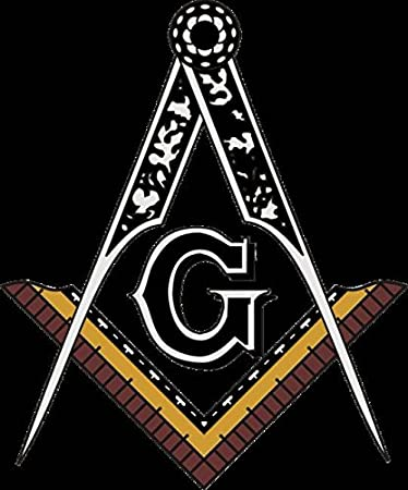 Amazon.com: Wall Art Print entitled Masonic Square And Compass Of ...