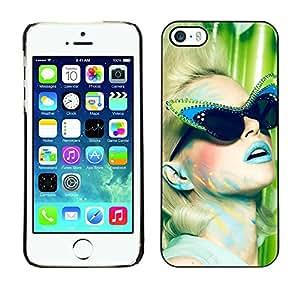 GIFT CHOICE / Teléfono Estuche protector Duro Cáscara Funda Cubierta Caso / Hard Case for iPhone 5 / 5S // Fashion Cateye Sunglasses Model //