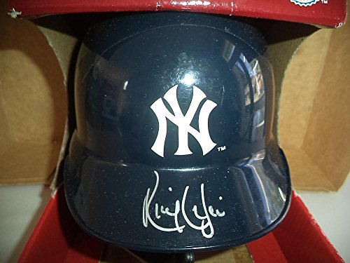 Ricky Ledee New York Yankees Signed Autographed Riddell Mini