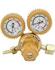 Jadeshay Reductor de presión Regulador de latón Reductor de presión de oxígeno Indicador Doble 0-25M-Pa