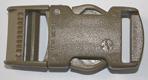 ITW Nexus # 1514Boucle 25mm côté Libération Tan pour tactique militaire en toile