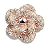 Merdia Brooches Fashionable and Refined Hollow-Out Breastpin Rose Gold Color for Girls Ladies and Women