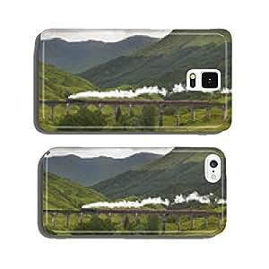 Scottish steam train passing a classic bridge cell phone cover case Samsung S5