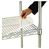 Alera Clear Plastic Shelf Liners for 36-Inch by 24-Inch Wire Shelving, 4-Pack