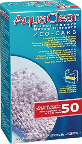 Aqua Clear 50 (200) Zeo Carb Filter Media, 12 Pack