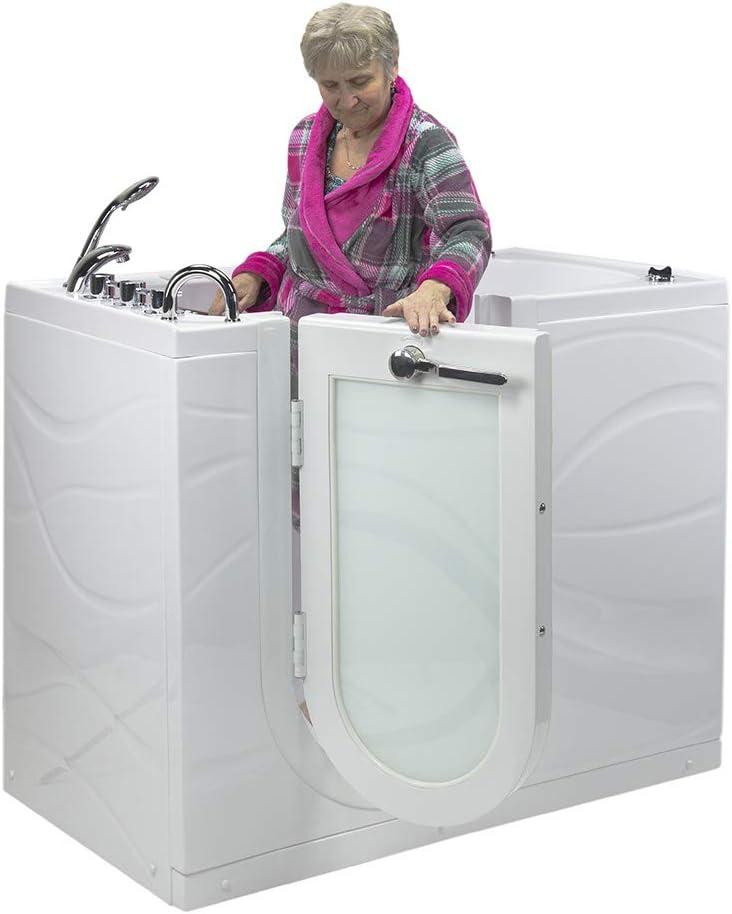 Right Outward Swing Door White Ellas Bubbles OAZ3052AH-R Ella Zen 30x 52 Air Massage with Heated Seat Acrylic Walk-In Bathtub 2 Dual Drain