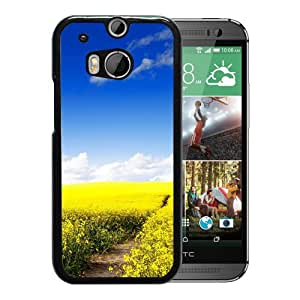 New Beautiful Custom Designed Cover Case For HTC ONE M8 With Nature Wonder Canola Field Phone Case
