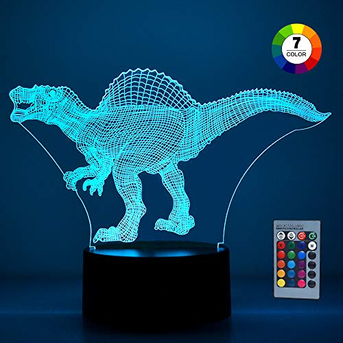 Fricon Birthday Presents Gifts for 3-12 Year Old Boys, Kimy Dinosaur Night Light for 3-12 Year Old Kids Birthday Presents for 3-12 Year Old Boys Stegosaurus KMUSDN02