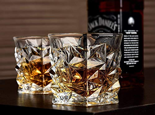 TDS® Diamond Design Crystal Cut Whiskey Glass Set (300 ml) (2) Price & Reviews