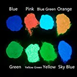 #6: Glow In The Dark Pigment Powder Luminous powder(Set of 8 packs 0.4oz Each) Safe Non-Toxic,For Nails,EDM Music Festivals,Resin,Concerts,Halloween