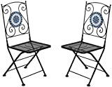 Furniture of America CM-OT1801-CH-2PK Aster Folding Metal Chair Set of 2  , 37'' H