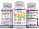 Shape Organics TURMERIC CURCUMIN 180CT 2100mg 95% Pure Extract w BioPerine, DR Recommended Anti inflammatory Stress Relief of Joint Pain Inflammation Diet Immune System Liver Detox Booster Veg Capsule For Sale