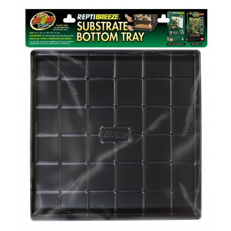 Zoo Med ReptiBreeze Substrate Bottom Tray, Small/Medium Fits NT10 NT11 NT15 16 L x 16 W x 2 H